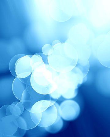blurred lights: blurred lights on a soft blue background Stock Photo