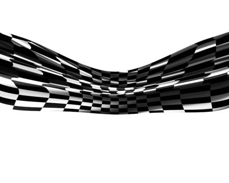 Checkered black and white flag waving in the wind Stock Photo - 5957929