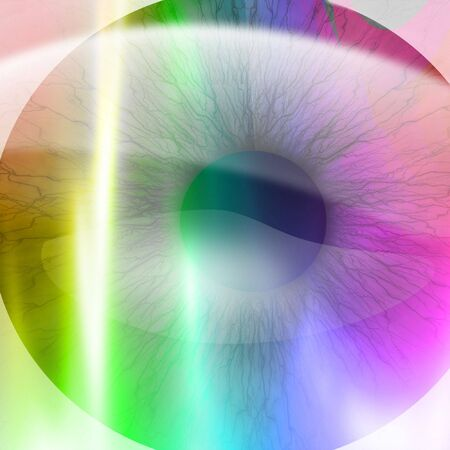 dilated pupils: Human pupil with different colours in it Stock Photo