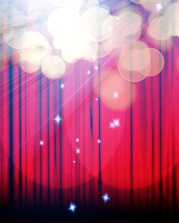 Movie or theater curtain with double spotlight Stock Photo - 5957866