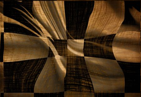 Old racing flag with some soft shades and folds photo