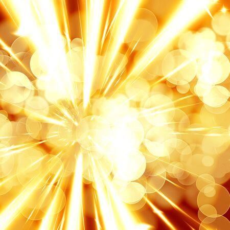 implode: fire blast on a bright orange background