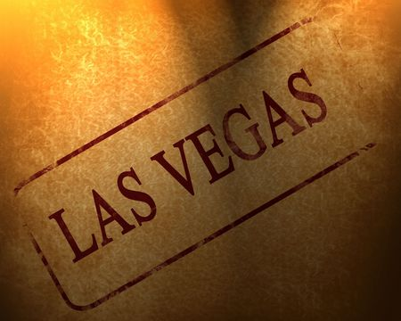 red stamp with las vegas written on it photo