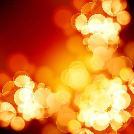 blurred xmas lights on a dark background