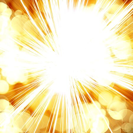 implode: bright explosion on a dark orange background
