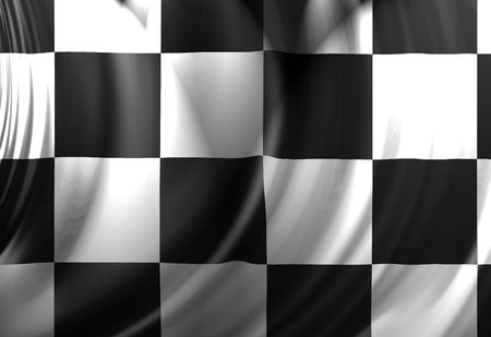Racing flag with some soft folds in it photo