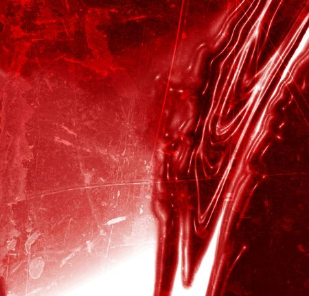 bloodied: blood dripping down on a red background Stock Photo