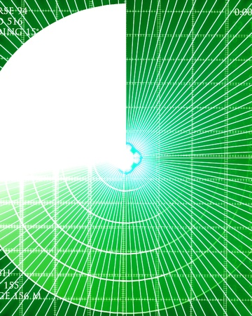 green it: Green radar screen with data on it