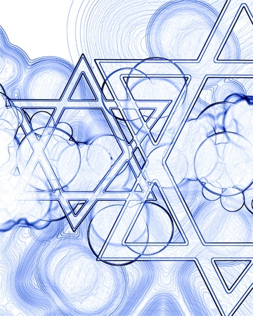 hannukah: stars of david on a soft background Stock Photo