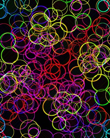 collection of colorful circles on a black background photo
