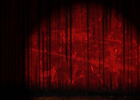 Movie or theater curtain with soft shades photo