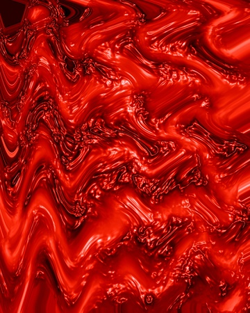 blood vessel: human tissue or veins on a bright red background