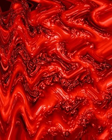 vasos sanguineos: tejido humano o venas sobre fondo rojo brillante