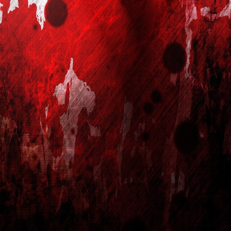 Bloodied grunge wall with some blood splatter Stock Photo