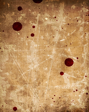 blood drops: Old paper texture with some stains on it Stock Photo