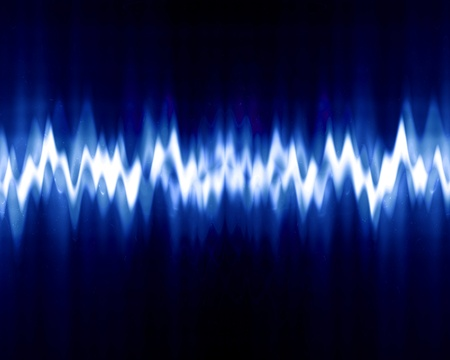 sound wave on a dark blue background photo