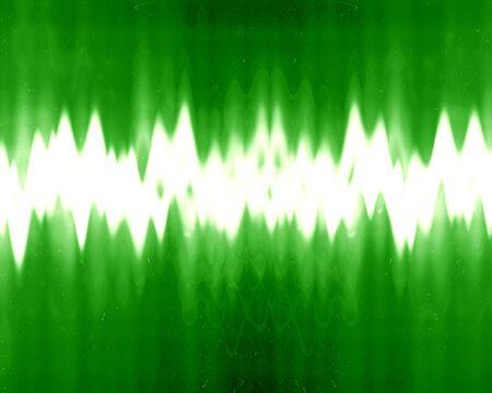 sound wave on a dark green background photo