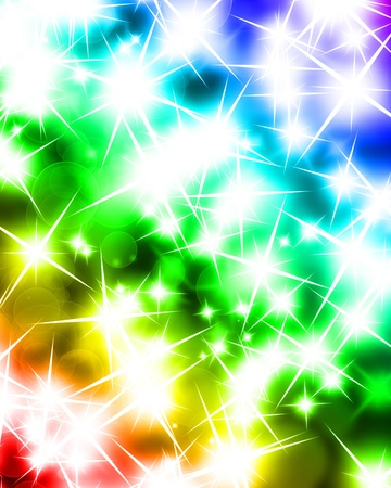 blurred lights: glowing sparkles on a beautiful rainbow background Stock Photo