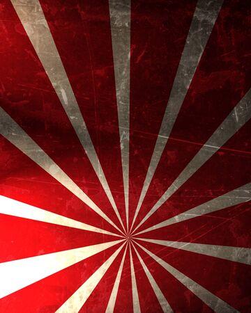 照らす: 濃い赤の背景に抽象的な光線
