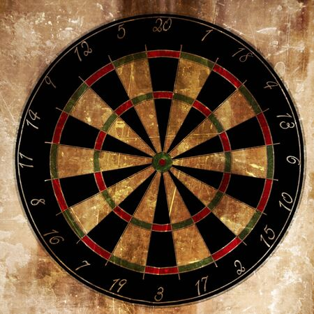sports bar: Darts board on a grunge looking background