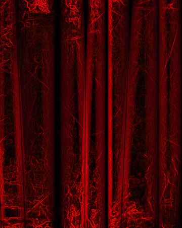 famous writer: red movie or theater curtain with some folds in it Stock Photo