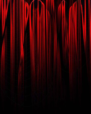 famous writer: Movie or theater curtain with soft shades