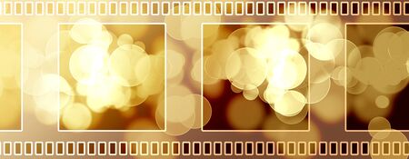 film shooting: Blank negative film strip on a black background Stock Photo