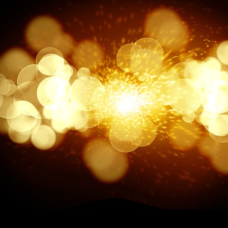 implode: bright explosion on a dark orange background