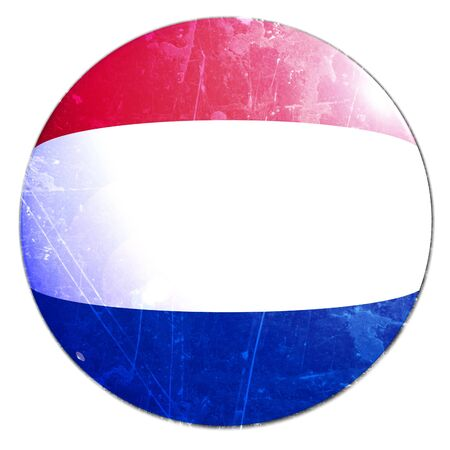 dutch flag on a solid white background photo