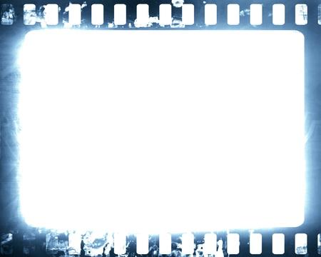 Old film strip on a grunge like background