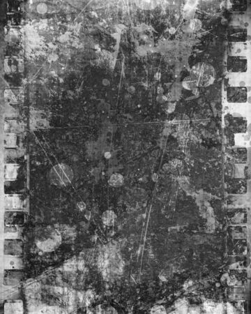 old film strip with some damage on it Stock Photo - 10341802