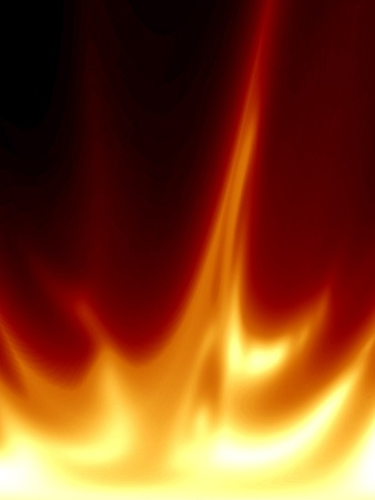 abstract fire with some smooth flames in it Stock Photo - 10340761