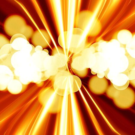 implode: Explosion or fireblast on an orange background Stock Photo