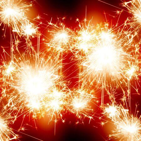 bright fireworks on a dark night sky photo