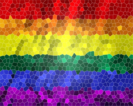 Gay pride flag with a tiled pattern in it Stok Fotoğraf - 10342334
