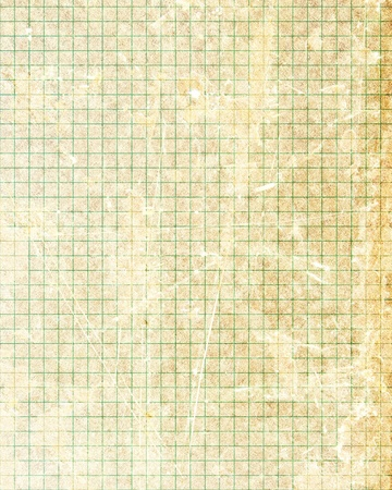 Office paper with green squares on it photo