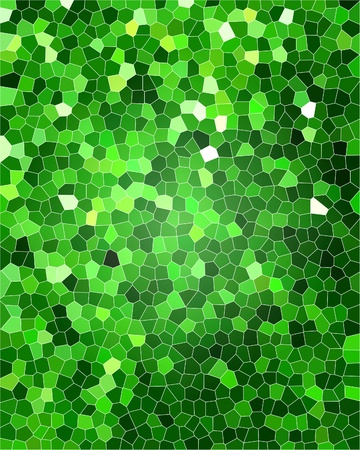 green grid: green background with a mosaic pattern in it Stock Photo