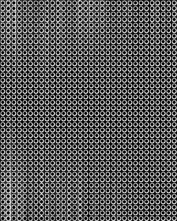 drilled: metal grid with some reflected light on it Stock Photo