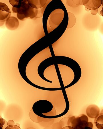 black music note on a soft background photo