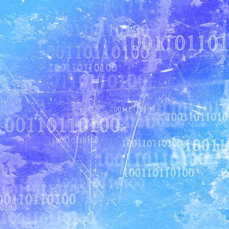bytes: bits and bytes on a blue background