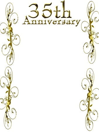 achievement cards: 35th anniversary on a solid white background