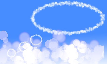 Cloud balloon on a soft blue background photo