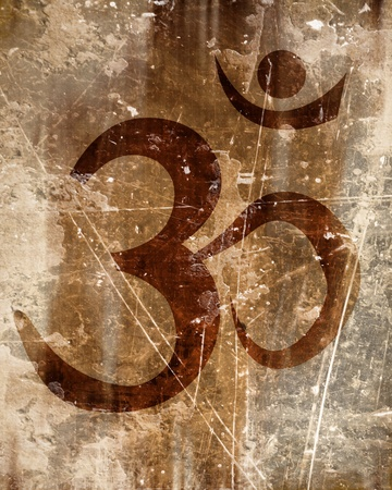 om aum symbol on a paper background photo