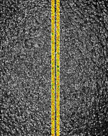 double lane: Asphalt background texture with some soft shades