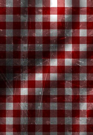 red picnic cloth with some folds in it Stock Photo - 10342369