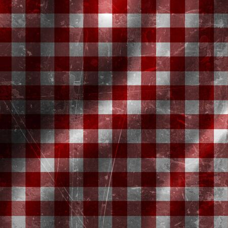 red picnic cloth with some folds in it Stock Photo - 10342452