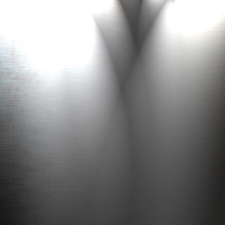 Brushed metal plate with reflected light on it photo