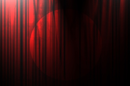 Long movie or theater curtain with dark shades Stok Fotoğraf