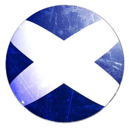 scottish flag: bandiera scozzese su uno sfondo bianco