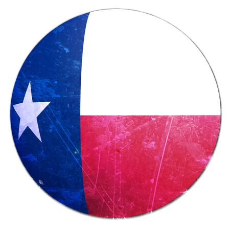 texan: texan flag on a solid white background